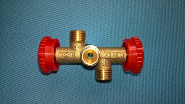 Abzweigventil für Gas mit 3 Abgängen