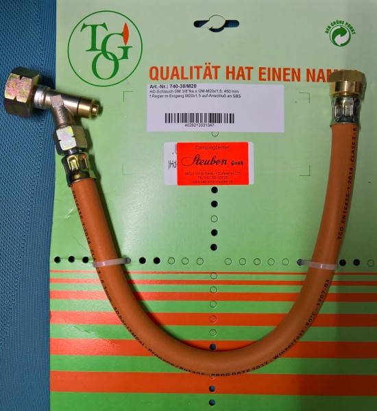 TGO HD Hochdruckschlauch G12 mit Schlauchbruchsicherung