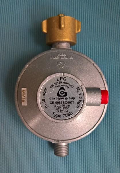 Sicherheits Regler 30 mbar 1,2 kg/h