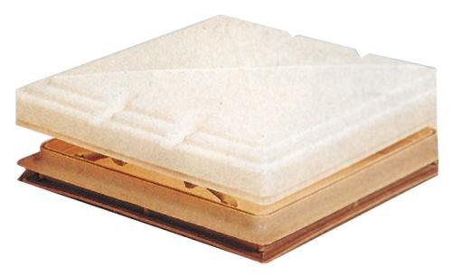Dachhaube 40x40 cm mit Verdunklungsrollo