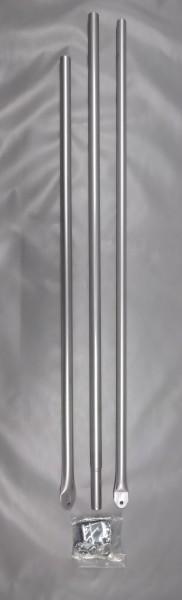 Schellenstab Alu Ø 25 mm 215 - 300 cm