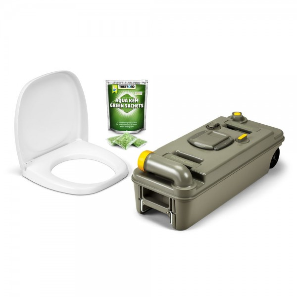 Thetford Fresh-Up Set für C2/3/4 Toilette, RECHTS, neues Modell mit Räder