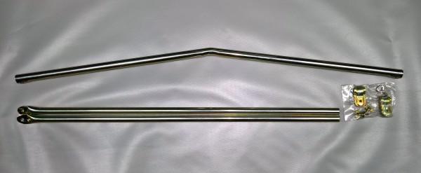 Dachauflagestange gebogen Stahl Ø 22 mm 110 - 180 cm