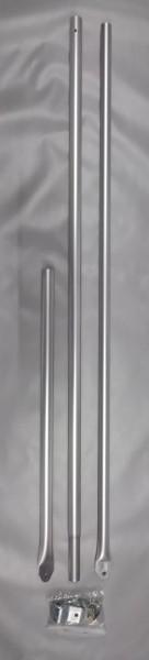 Schellenstab Alu Ø 25 mm 160 - 260 cm
