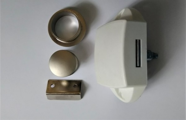 Push Lock silber