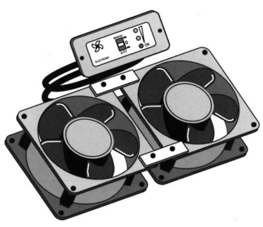 Elektronischer Doppel-Kühlschranklüfter